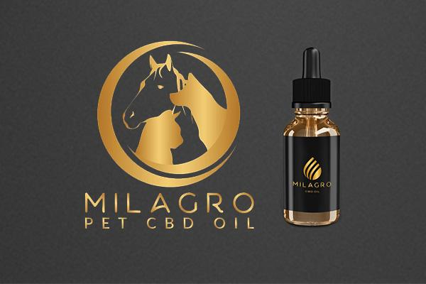 CBD oil for pets. Milagro CBD. Relieve pet anxiety, stress and pain.